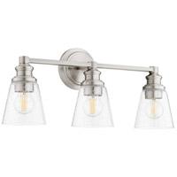 Quorum 509-3-65 Dunbar 3 Light 23 inch Satin Nickel Vanity Light Wall Light