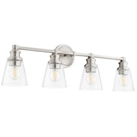 Quorum 509-4-65 Dunbar 4 Light 32 inch Satin Nickel Vanity Light Wall Light