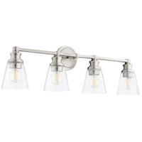 Quorum 509-4-65 Dunbar 4 Light 32 inch Satin Nickel Vanity Light Wall Light