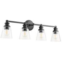 Quorum 509-4-69 Dunbar 4 Light 32 inch Noir Vanity Light Wall Light