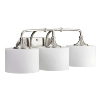 Quorum 5090-3-65 Rockwood 3 Light 26 inch Satin Nickel Vanity Light Wall Light