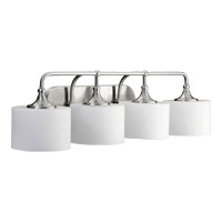 Quorum 5090-4-65 Rockwood 4 Light 36 inch Satin Nickel Vanity Light Wall Light