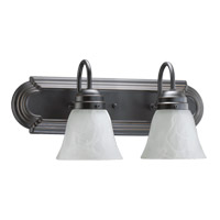Quorum 5094-2-195 Signature 2 Light 18 inch Old World Vanity Light Wall Light in Faux Alabaster