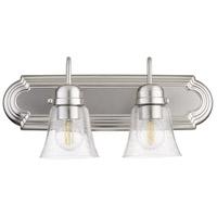 Quorum 5094-2-265 Fort Worth 2 Light 18 inch Satin Nickel Vanity Light Wall Light Quorum Home