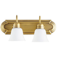 Quorum 5094-2-80 Signature 2 Light 18 inch Aged Brass Vanity Light Wall Light