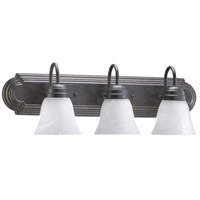 Quorum 5094-3-144 Signature 3 Light 24 inch Toasted Sienna Vanity Light Wall Light in Faux Alabaster
