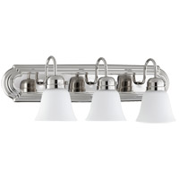 Quorum 5094-3-62 Signature 3 Light 24 inch Polished Nickel Vanity Light Wall Light