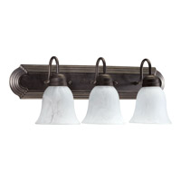 Quorum International Signature 3 Light Vanity Light in Toasted Sienna 5094-3-844