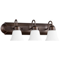 Quorum 5094-3-86 Signature 3 Light 24 inch Oiled Bronze Vanity Wall Light