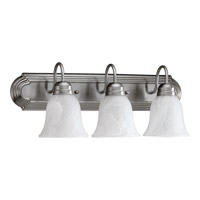 Quorum International Signature 3 Light Vanity Light in Satin Nickel 5094-3-865