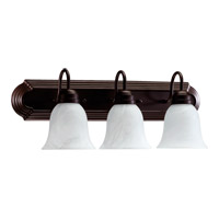 Quorum International Signature 3 Light Vanity Light in Oiled Bronze 5094-3-886