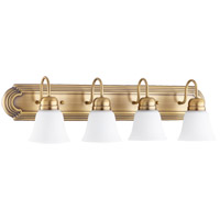 Quorum 5094-4-80 Signature 4 Light 30 inch Aged Brass Vanity Light Wall Light