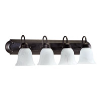 Quorum International Signature 4 Light Vanity Light in Toasted Sienna 5094-4-844