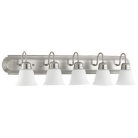 Quorum 5094-5-65 Signature 5 Light 36 inch Satin Nickel Vanity Light Wall Light