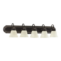 Signature 5 Light 36 inch Oiled Bronze Vanity Light Wall Light in Linen