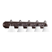 Quorum 5094-5-86 Signature 5 Light 36 inch Oiled Bronze Vanity Wall Light