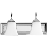 Quorum 5104-2-62 Signature 18 inch Polished Nickel Vanity Wall Light, Satin Opal