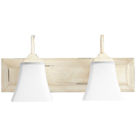 Quorum 5104-2-70 Signature 18 inch Persian White Vanity Wall Light, Satin Opal