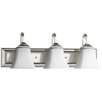 Quorum 5104-3-62 Signature 24 inch Polished Nickel Vanity Wall Light Satin Opal