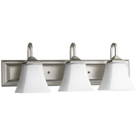 Quorum 5104-3-65 Signature 24 inch Satin Nickel Vanity Wall Light, Satin Opal