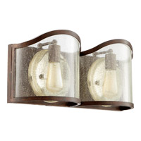 Salento 2 Light 20 inch Vintage Copper Bath Light Wall Light