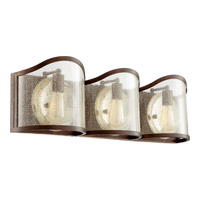 Quorum 5106-3-39 Salento 3 Light 30 inch Vintage Copper Bath Light Wall Light