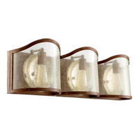 Salento 3 Light 30 inch French Umber Bath Light Wall Light