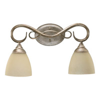 Quorum 5108-2-58 Powell 2 Light 19 inch Mystic Silver Vanity Light Wall Light