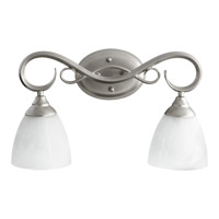 Quorum 5108-2-64 Powell 2 Light 19 inch Classic Nickel Vanity Light Wall Light