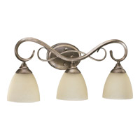 Powell 3 Light 23 inch Mystic Silver Vanity Light Wall Light