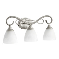Quorum 5108-3-64 Powell 3 Light 23 inch Classic Nickel Vanity Light Wall Light