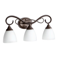 Quorum 5108-3-86 Powell 3 Light 23 inch Oiled Bronze Vanity Light Wall Light