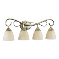 Quorum 5108-4-58 Powell 4 Light 32 inch Mystic Silver Vanity Light Wall Light