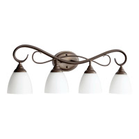 Quorum 5108-4-86 Powell 4 Light 32 inch Oiled Bronze Vanity Light Wall Light