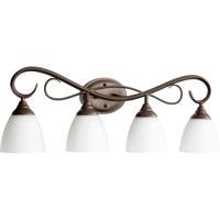 Quorum 5108-4-86 Powell 4 Light 32 inch Oiled Bronze Vanity Light Wall Light