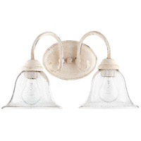 Quorum 5110-2-170 Spencer 17 inch Persian White Vanity Wall Light, Clear Seeded