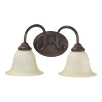 Quorum 5110-2-44 Spencer 2 Light 17 inch Toasted Sienna Vanity Light Wall Light