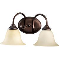 Quorum 5110-2-86 Spencer 2 Light 17 inch Oiled Bronze Vanity Light Wall Light