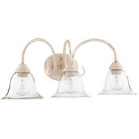 Quorum 5110-3-170 Spencer 3 Light 25 inch Persian White Vanity Wall Light Clear Seeded