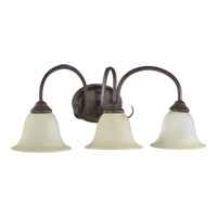 Quorum 5110-3-44 Spencer 3 Light 25 inch Toasted Sienna Vanity Light Wall Light