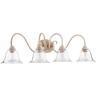 Quorum 5110-4-170 Spencer 34 inch Persian White Vanity Wall Light, Clear Seeded