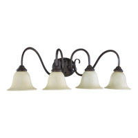Quorum 5110-4-44 Spencer 4 Light 34 inch Toasted Sienna Vanity Light Wall Light