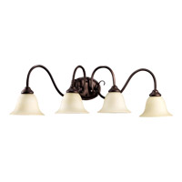Quorum 5110-4-86 Spencer 4 Light 34 inch Oiled Bronze Vanity Light Wall Light