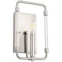 Quorum 5114-1-65 Optic 1 Light 7 inch Satin Nickel Wall Sconce Wall Light