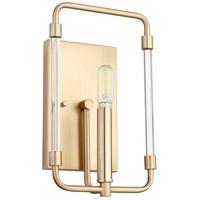 Quorum 5114-1-80 Optic 1 Light 7 inch Aged Brass Wall Sconce Wall Light