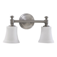 Quorum 5122-2-65 Signature 2 Light 17 inch Satin Nickel Vanity Light Wall Light