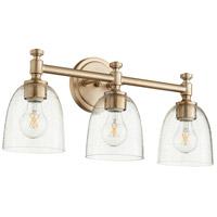 Quorum 5122-3-280 Rossington 3 Light 22 inch Aged Brass Vanity Light Wall Light