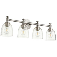 Quorum 5122-4-265 Rossington 4 Light 30 inch Satin Nickel Vanity Light Wall Light