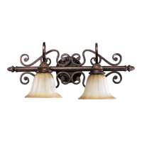 Summerset 2 Light 25 inch Toasted Sienna Vanity Light Wall Light