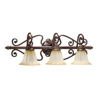Summerset 3 Light 33 inch Toasted Sienna Vanity Light Wall Light